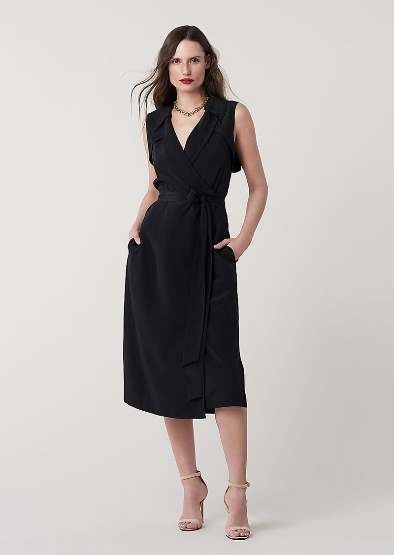 Diane Von Furstenberg Augusta Silk Crepe de Chine Wrap Dress