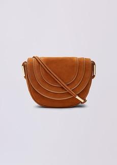 Diane Von Furstenberg Nubuck Crossbody Saddle Bag