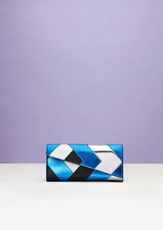 Diane Von Furstenberg Angular East West Clutch with Patchwork