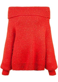 Diane Von Furstenberg off-shoulder chunky knit jumper