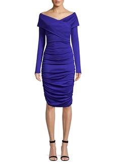 Diane Von Furstenberg Off-The-Shoulder Ruched Dress