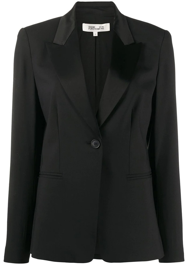 Diane Von Furstenberg one-button blazer