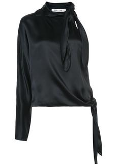 Diane Von Furstenberg One shoulder knotted blouse