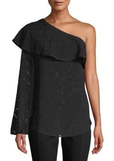 Diane Von Furstenberg One-Shoulder Ruffle Front Top