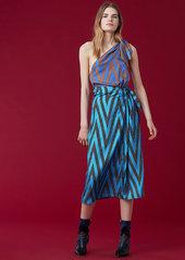 Diane Von Furstenberg One Shoulder Scarf Dress