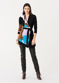 Diane Von Furstenberg Ophera Intarsia Belted Cardigan