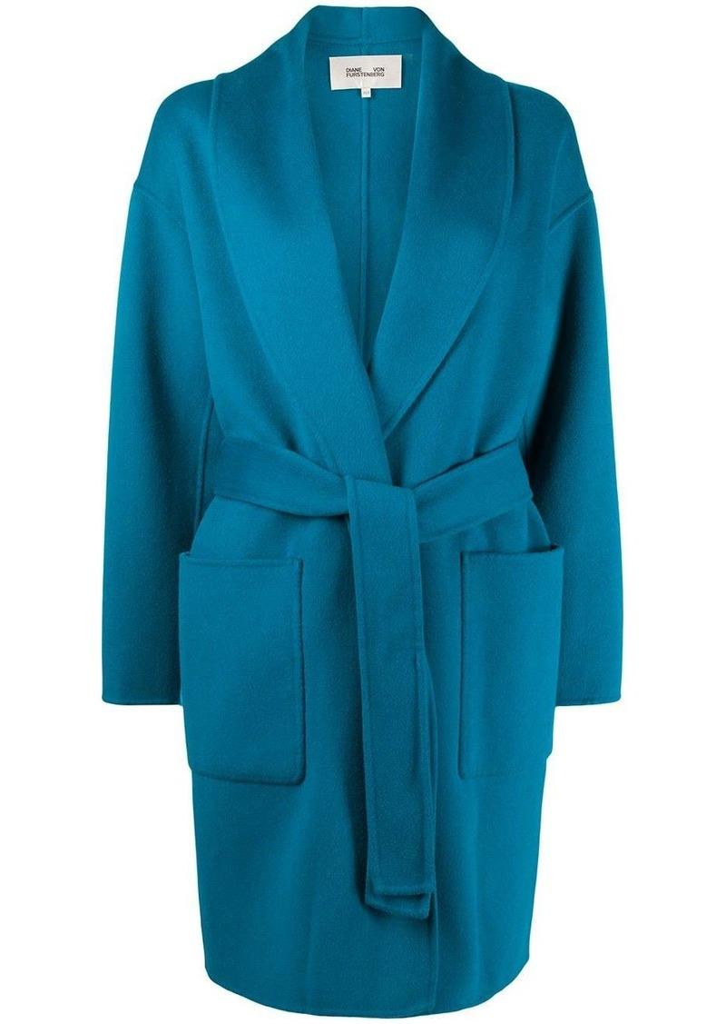 Diane Von Furstenberg oversized belted coat