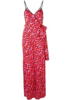 Diane Von Furstenberg palm print jumpsuit