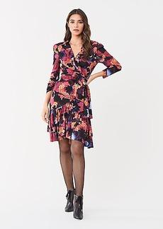 Diane Von Furstenberg Paloma Ruffled Mesh Wrap Dress