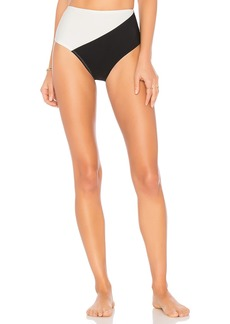 Diane Von Furstenberg Paneled Cheeky High Waisted Bottom