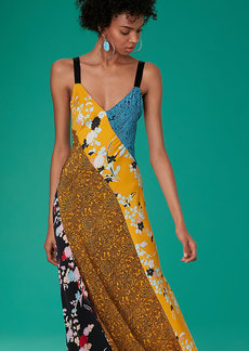 Diane Von Furstenberg Paneled Maxi Dress