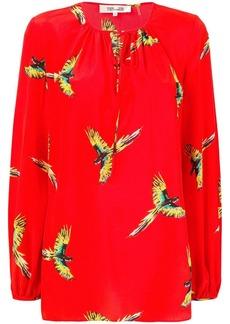 Diane Von Furstenberg parrot blouse