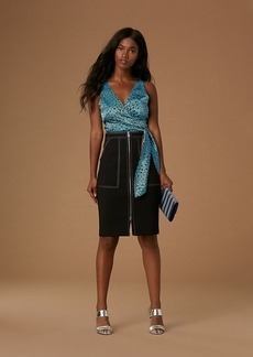 Patch Pocket Zip Skirt