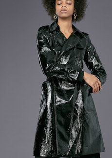 Patent Trench Coat