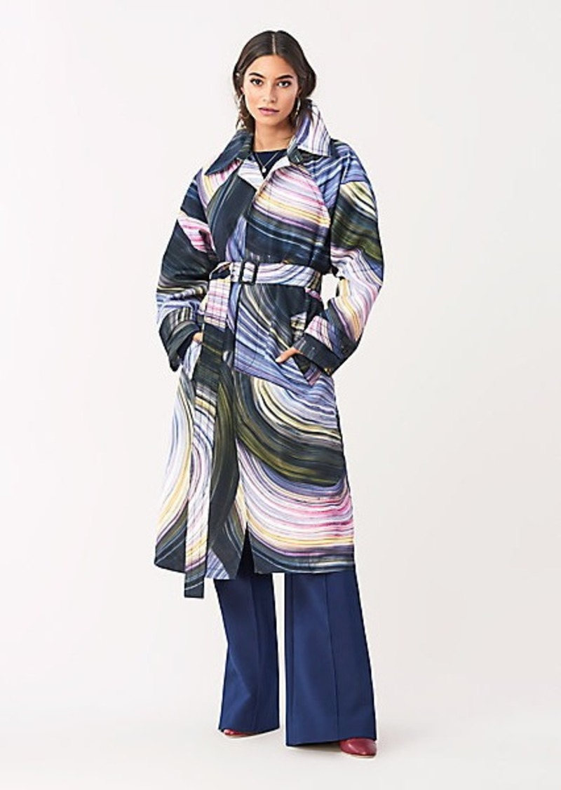 Diane Von Furstenberg Patina Oversized Trench Coat
