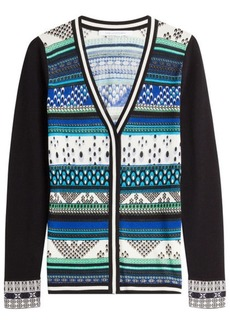 Diane Von Furstenberg Patterned Knit Cardigan