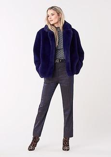 Diane Von Furstenberg Paulette Faux Fur Coat