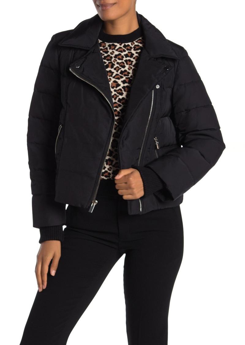 Diane Von Furstenberg Paulina Moto Puffer Jacket