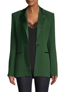 Diane Von Furstenberg Peak Lapel Button Blazer
