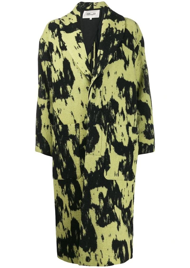 Diane Von Furstenberg Peg oversized coat
