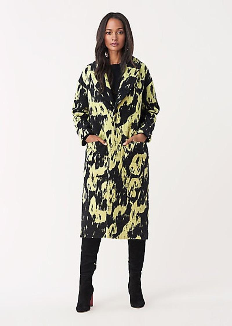 Diane Von Furstenberg Peg Wool Oversized Coat
