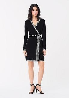 Diane Von Furstenberg Perry Knit Mini Wrap Dress