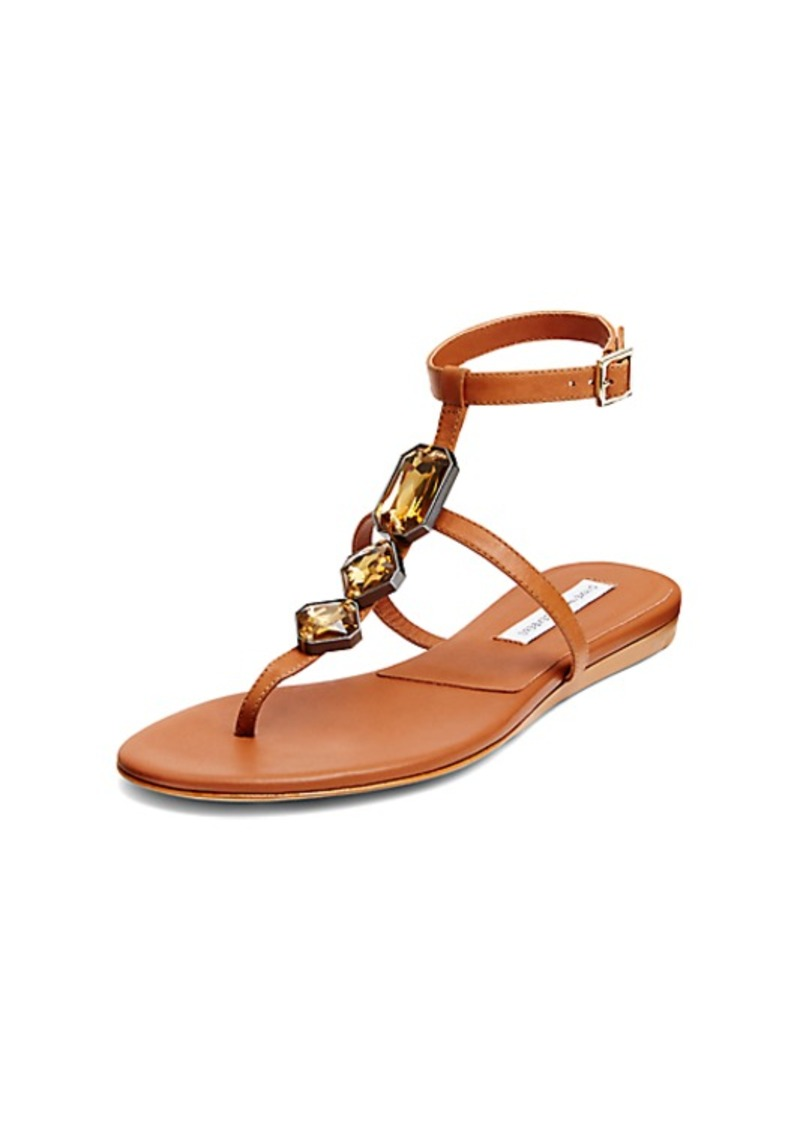 Diane Von Furstenberg Perugia Embellished T-Strap Sandal