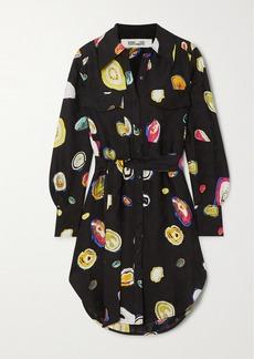 Diane Von Furstenberg Peyton Printed Silk-blend Jacquard Shirt
