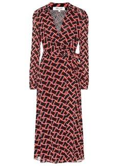 Diane Von Furstenberg Pheonix mesh wrap dress