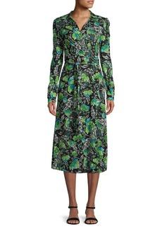 Diane Von Furstenberg Phoenix Floral Wrap Dress