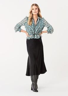 Diane Von Furstenberg Pilla Crinkle Chiffon Blouse
