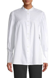 Diane Von Furstenberg Pintucked Balloon Sleeve Shirt