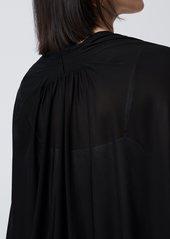 Diane Von Furstenberg Pipa Matte-Jersey Cardigan in Black