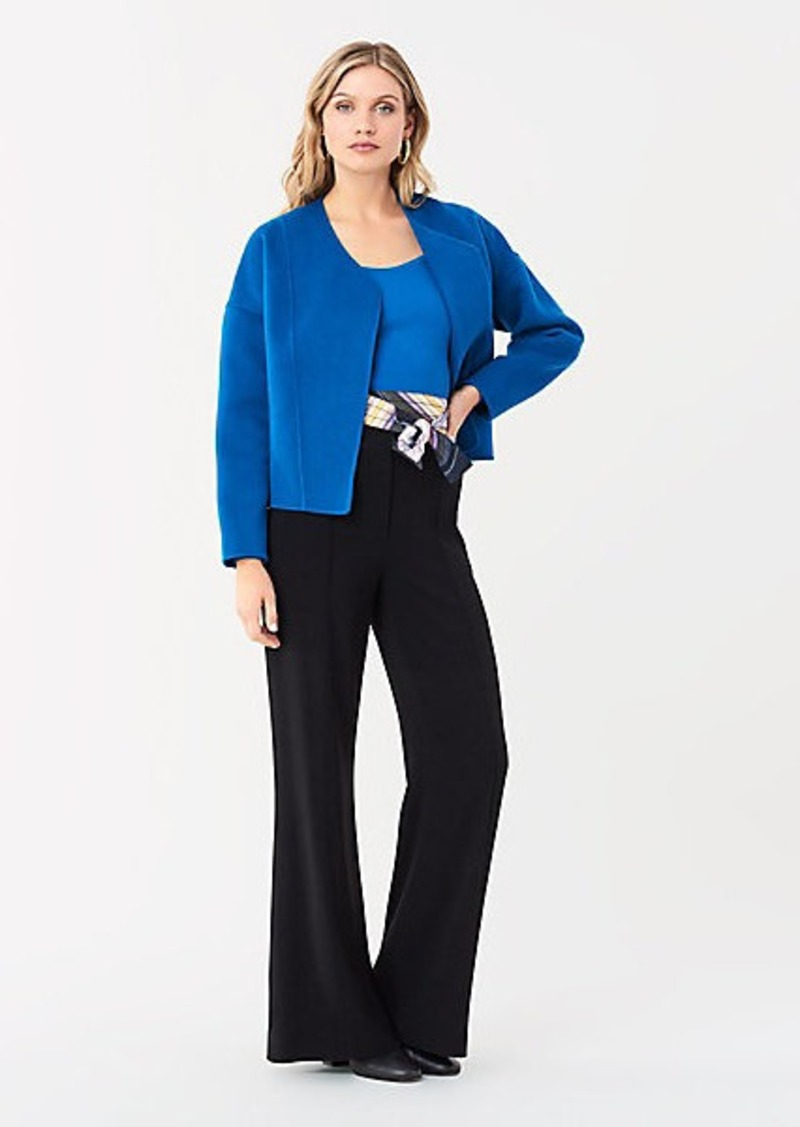 Diane Von Furstenberg Pixie Double-Face Wool Cardigan