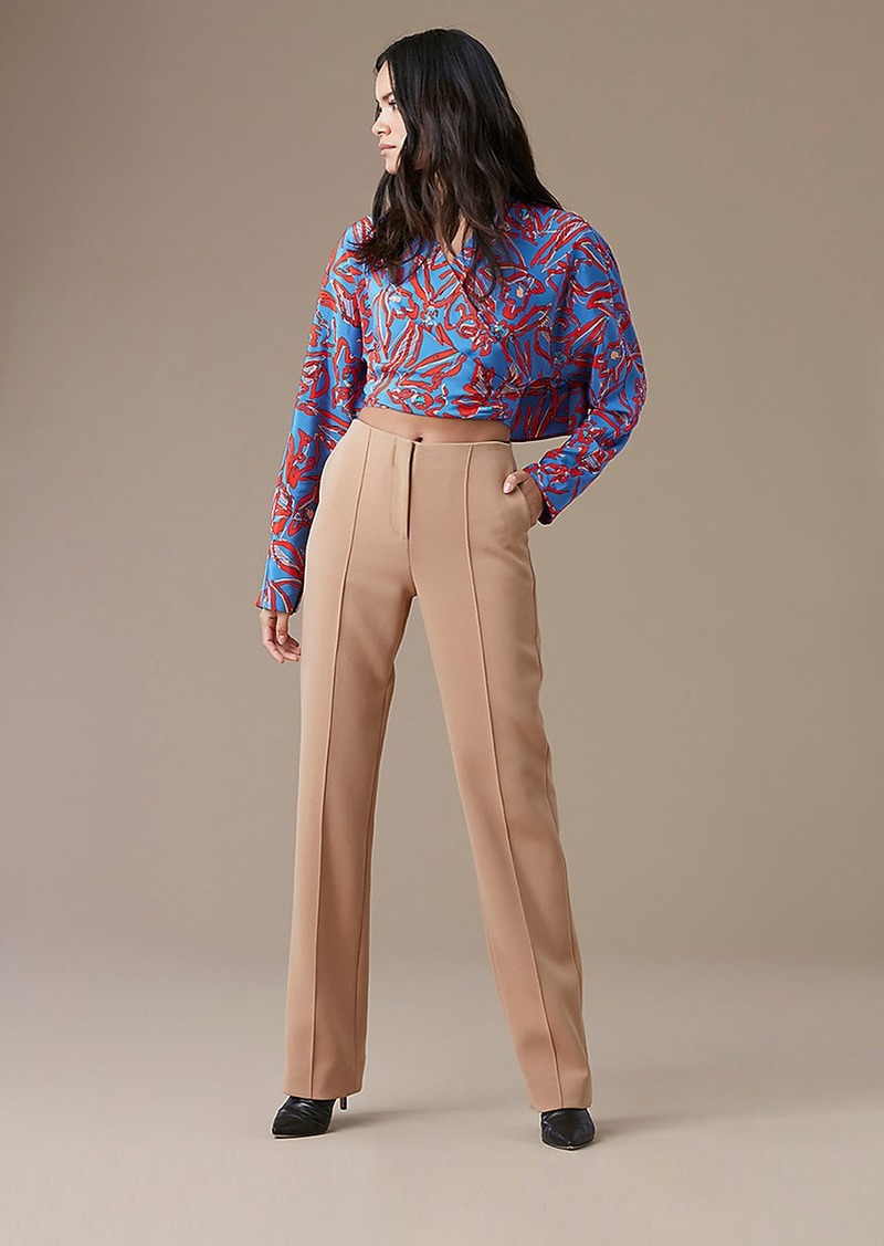 Diane Von Furstenberg Pleat Front Dress Pant