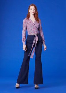 Pleat Front Linen Flare Pants