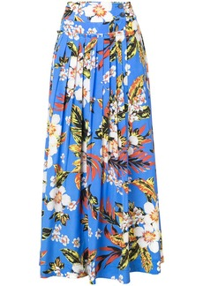Diane Von Furstenberg pleated floral skirt