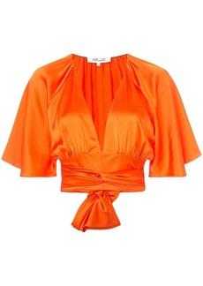 Diane Von Furstenberg plunge cropped blouse
