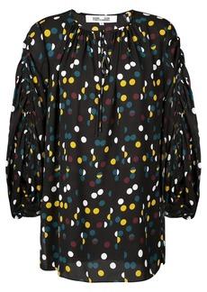 Diane Von Furstenberg polka dot blouse