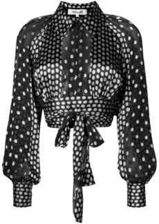 Diane Von Furstenberg polka dot print blouse