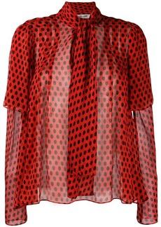 Diane Von Furstenberg polka dot printed blouse