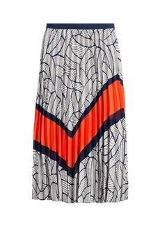 Diane Von Furstenberg Printed and Pleated Skirt