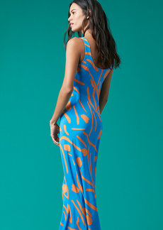 Printed Floor Length Slip Dress