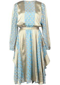 Diane Von Furstenberg printed handkerchief hem dress