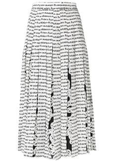 Diane Von Furstenberg printed pleated skirt