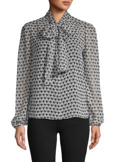 Diane Von Furstenberg Printed Sheer Shirt