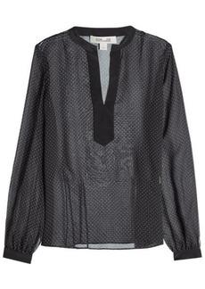 Diane Von Furstenberg Printed Silk Blouse