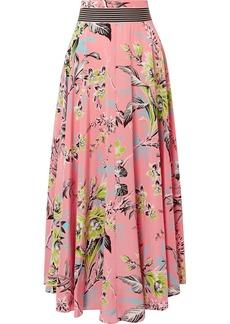 Diane Von Furstenberg Floral-print Silk Crepe De Chine Maxi Skirt