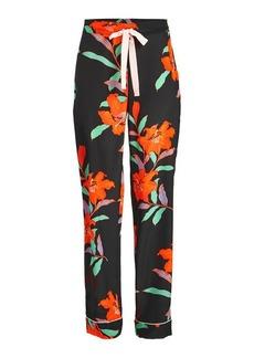Diane Von Furstenberg Printed Silk Pants
