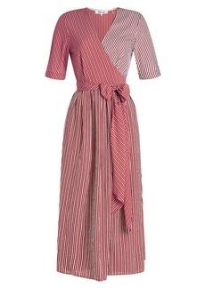 Diane Von Furstenberg Printed Wrap Midi Dress